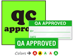 QA / QC Approved Labels
