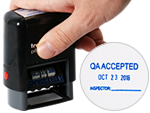 Quality Control Stamps Help Maintain High Calibration Standards.