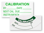 Traditional Calibration Labels