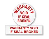 Warranty Labels
