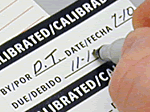 Write-On Vinyl Calibration Labels