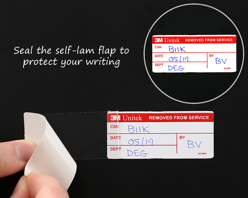 This is a photo of Comprehensive Self Laminating Calibration Labels
