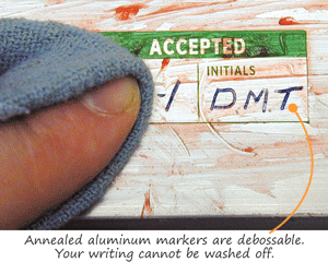 Accepted Labels Annealed Aluminum