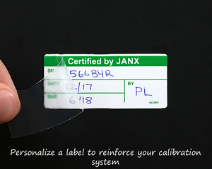 Custom calibration labels