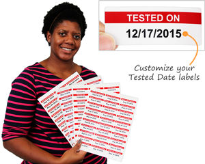 Custom Tested Date Labels