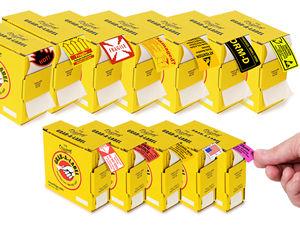 Grab-a-Label in Dispenser Box