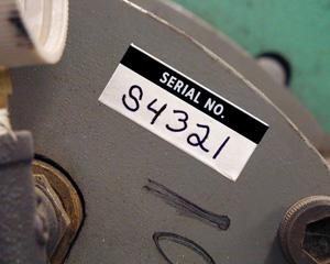 Serial Number Labels