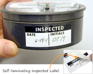 Self-laminating Inspected Label