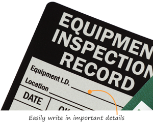 Equipment Inspection Record Labels
