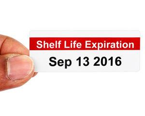 Shelf Life Expiration Labels