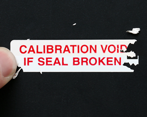 Void Calibration Labels