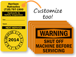 Inspection Service Labels