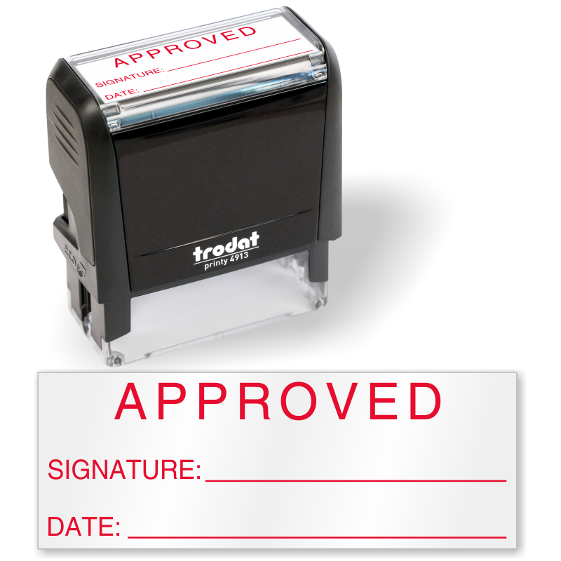 Approved Signature Inspection QC Self Inking Stamp