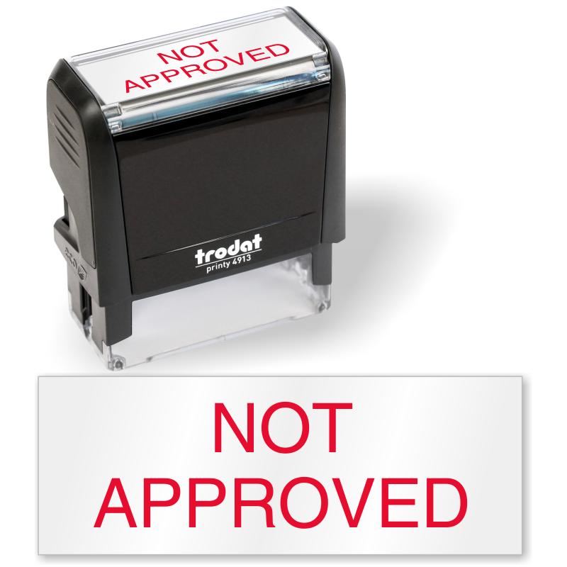not approved qc stamp self inking sku is 0134