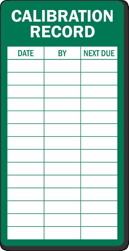 Calibration Record Inspection Label Huge Customer Base