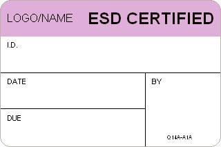 custom esd certified labels. Black Bedroom Furniture Sets. Home Design Ideas