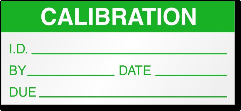 calibration labels calibration quakity control labels. Black Bedroom Furniture Sets. Home Design Ideas