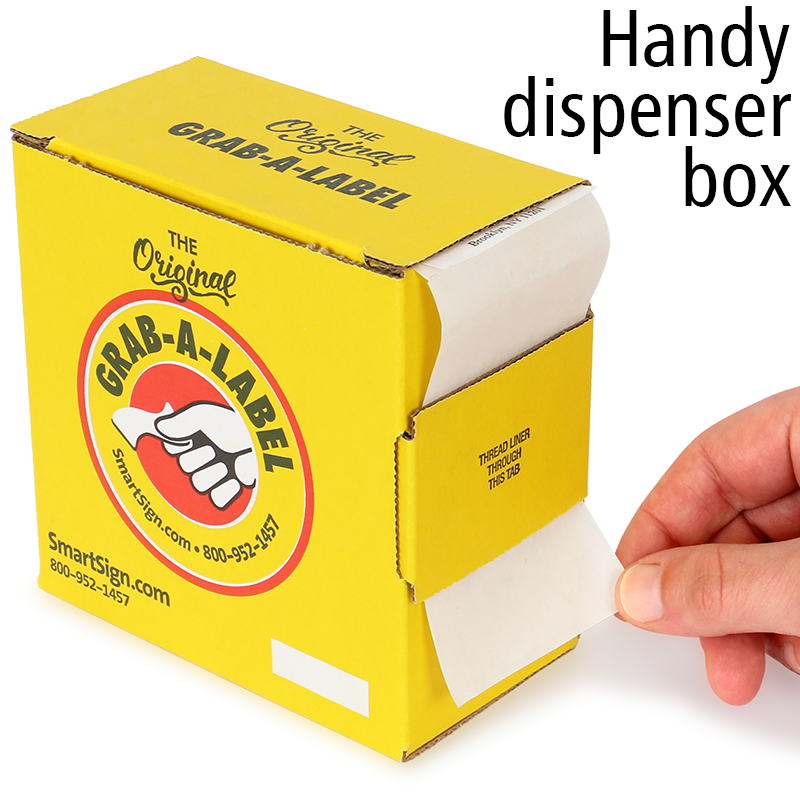 Grab A Label In Dispenser Box: Hold For QC Approval Labels In Dispenser