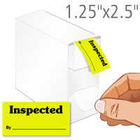 Inspected By QC Labels in Dispenser