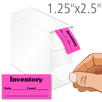 Inventory, Date, Count Labels in Dispenser