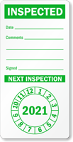 Punch Out Next Inspection Label
