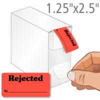 Rejected By QC Label Dispenser Box