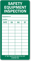 Safety Equipment Inspection Record Label