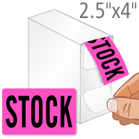 Stock Shipping Labels in Dispenser Box