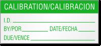 Calibration/Calibracion Bilingual Calibration Label