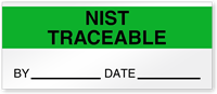 Nist Traceable By Date Write-On Quality Control Label