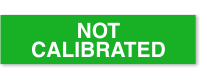 Not Calibrated Calibration Label