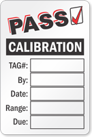 Pass Calibration Write On Label