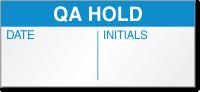 QA Hold Calibration Label
