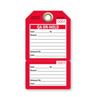 QA On-Hold Perforated Inspection Tag