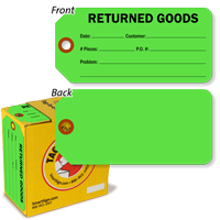 Returned Goods Tag-in-a-Box with Fiber Patch