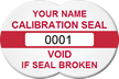Calibration Seal, Void If Seal Broken