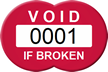 Customizable Void If Broken Seal Tag