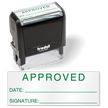 Approved Date Inspection Self Inking Stamp