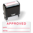 Approved Date Self Inking Inspection Stamp