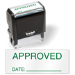 Approved Date Self Inking QC Stamp