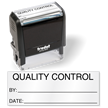 Quality Control by Self Inking Stamp