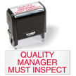 Quality Manager Must Inspect Self Inking Stamp