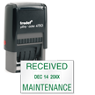 Received Maintenance Date Stamp Self Inking
