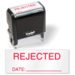 Rejected Date Inspection Self Inked Stamp