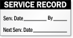 Service Record Inspection Label