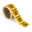 Water Soluble Labels Rolls Use First