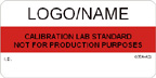 Calibration Lab Standard Label [add name/logo]
