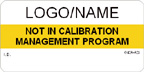 Not in Calibration Management Program Label