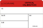 Critical Calibration Label [add name or logo]