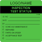 Inspection Test Status Label [add name/logo]